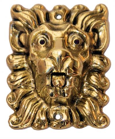 Ringledningsknapp lejon i mässing 5133b9d2bb4d1